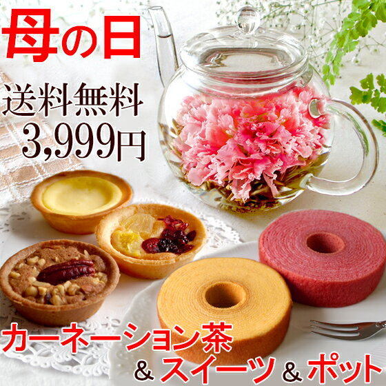 送料無料 スイーツ ティーポット お花のつぼみ カーネーション茶 工芸茶 母の日ギフト 2018