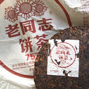 プーアル茶 老同志餅茶2018年熟茶 1個