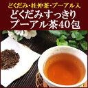 どくだみすっきりプーアル茶40包 どくだみ茶 プーアル茶 杜仲茶 プーアール茶 ブレンド茶 メタボ対策 尿酸値 痛風