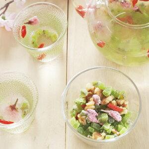 フルーツティー 食べるフルーツティー・桜100g ドライさくら 桜葉 サクラの花 クコの実 ゴジベリー くるみ キウイ ドライフルーツ アイスティー 水出し
