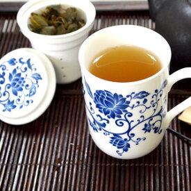 茶こし付きマグカップ 青花 台湾茶器