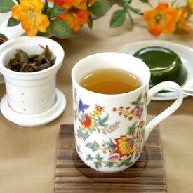 茶こし付きマグカップ 吉祥花 台湾茶器