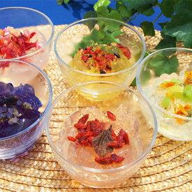 食べるフルーツティー ゼリー5種 手作り 簡単 即席 ゼラチン ダイエット ドライフルーツ