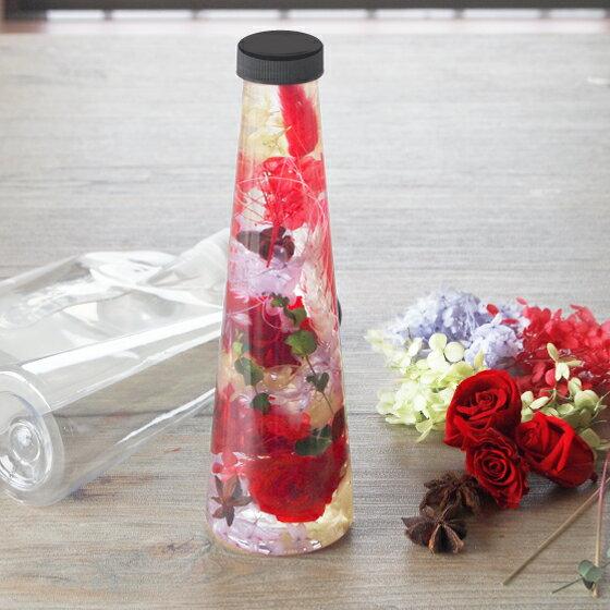 ハーバリウム キット 手作りハーバリウムキット 350ml 円すいボトル 母の日 2019 送料無料 プリザーブドフラワー ローズ 薔薇 アジサイ ドライフラワー 円錐 花材 セット