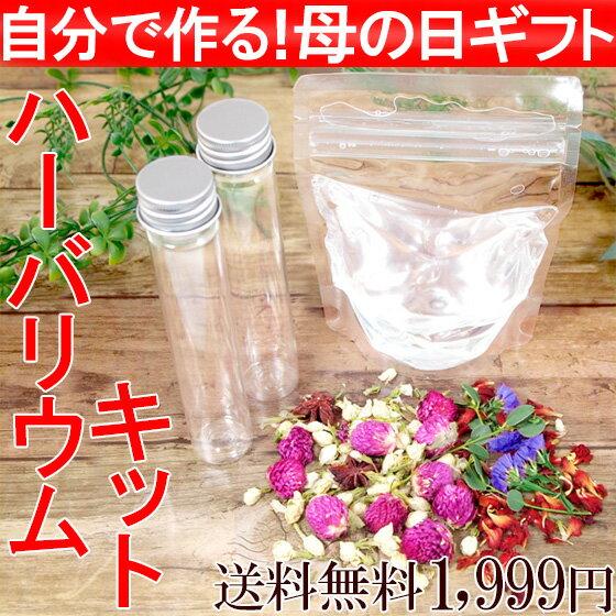 手作りハーバリウムキット 母の日 ギフト 2018 植物標本 花ギフト 自分で作る オリジナル ボトル ドライフラワー ハーバリウムオイル付き カーネーション