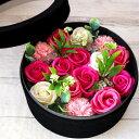 ソープフラワー ボックス ギフト ブーケ シャボンフラワー アーティフィシャルフラワー 花 誕生日 ギフト 造花 古希 …