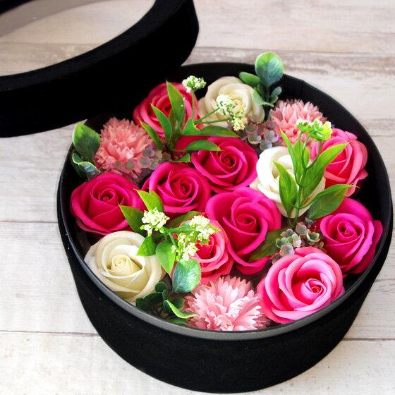 ソープフラワー ボックス 母の日 2019 ギフト ブーケ シャボンフラワー アーティフィシャルフラワー 花 誕生日 バースデー お祝い ホワイトデー お返し 古希 還暦 造花