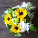 ソープフラワー フレグランスソープフラワー 花束 ブーケ バラ ひまわり アレンジメント 誕生日 記念日 お祝い 発表会…