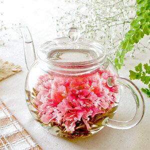 送料無料 敬老の日2018 誕生日 花咲くお茶 ティーポット お花のつぼみ カーネーション茶 工芸茶 母の日 ギフト