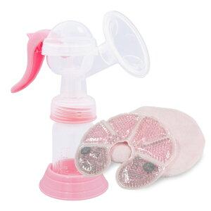 [セット販売] 手動 搾乳器 ABP-100 + ぽかクール ジェルパック 2個入 さく乳器 手動 搾乳機 ミルサポ さく乳機 母乳 母乳パッド ホット クール 両用 乳腺炎 軽減 繰り返し 温冷 ジェル 送料無料