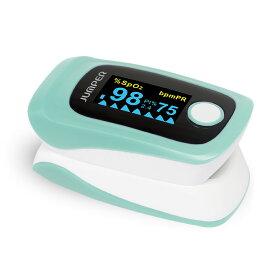 【送料無料】パルスオキシメーター JPD-500E (カラー:ミントグリーン) 血中酸素濃度計 心拍計 脈拍 spo2 灌流指標 高山病 登山