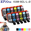 KAM-6CL-L 6色×2セット 増量版 エプソン互換(EPSON互換) セット内容:KAM-BK-L KAM-C-L KAM-M-L KAM-Y-L KAM-LC-L KAM-LM-L 対象機種: