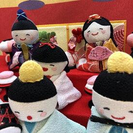 雛壇の三段飾り雛祭り 桃の節句 雛人形 お雛様 弥生 3月 お祝い 孫 贈り物