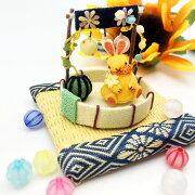 ミニチュア細工夏置き飾りうさぎスイカお祭り思い出花火水風船贈り物お土産プチギフト癒しインテリア和室和雑貨和風