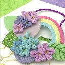 【変わり下げ飾り】 紫陽花とかえる