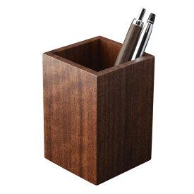 ペンスタンド ブラックウォールナット a 木製 天然木 ペン立て ペンたて シンプル 上質 デザイン ウォールナット