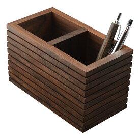 ペンスタンド ブラックウォールナット e 木製 天然木 ペン立て ペンたて シンプル 上質 デザイン ウォールナット