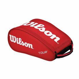 ウイルソンツアーシューバッグ3 レッドwrz843687 バドミントン テニス シューズケース 収納Wilson 2016SS