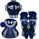 【在庫品】 ウィルソン キャッチャーズギア3点セット ネイビー 一般軟式用 野球 キャッチャー防具 2015年モデル