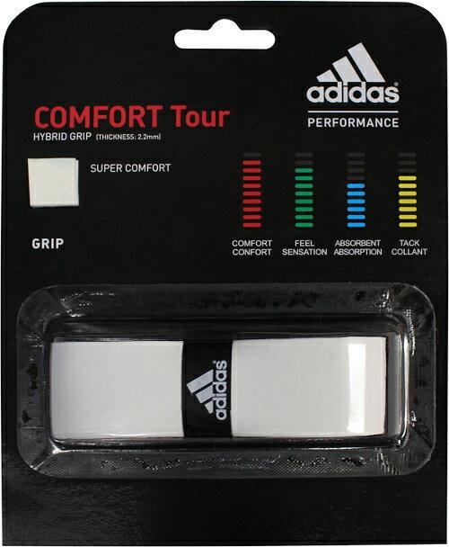 【在庫品】アディダス グリップテープ COMFORT TOUR コンフォートツアー 1本入 バドミントン テニス【アウトレット】