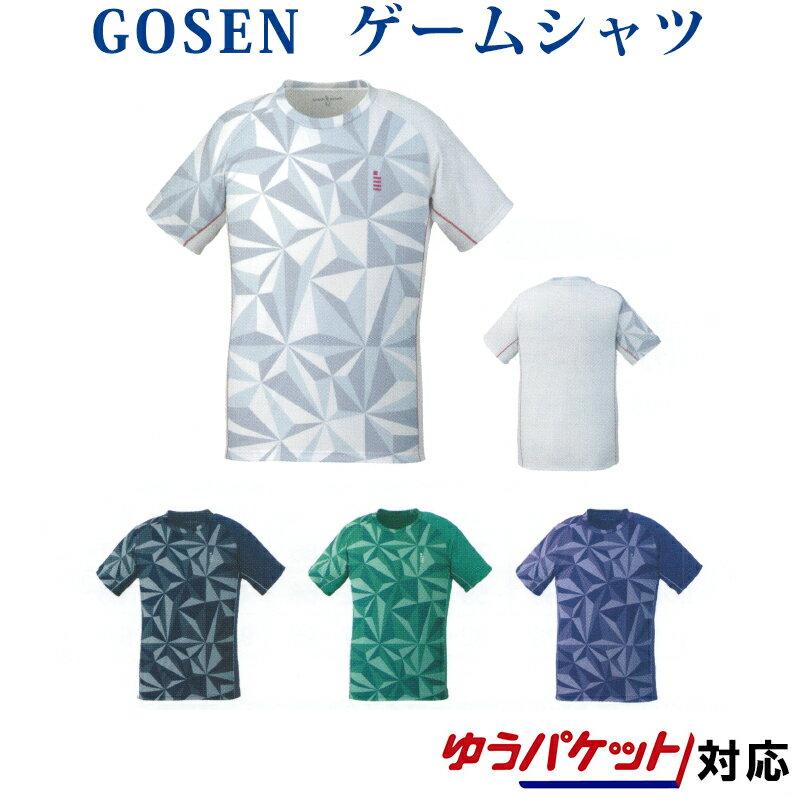 【在庫品】 ゴーセン ゲームシャツ T1930 メンズ ジュニア 2019SS バドミントン テニス ゆうパケット(メール便)対応