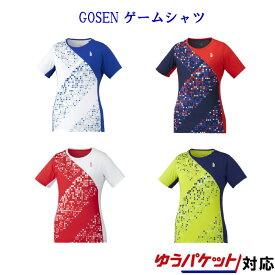 ゴーセン ゲームシャツ T1943 レディース 2019AW バドミントン テニス ソフトテニス 半袖