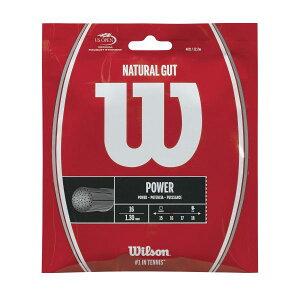 ウイルソン ナチュラルガット 16 (1.30mm) wrz999800 硬式テニス テニス ストリング ガット Wilson 2017SS