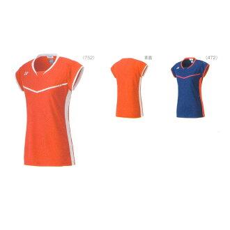 支持尤尼克斯合身衬衫20323 yuu分组的羽毛球游戏衬衫短袖女士2016年日本代表型号闪光
