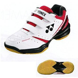 供小小尤尼克斯功率靠垫650 POWER CUSHION 650 JUNIOR红/黑色SHB650JR羽毛球鞋低切使用的YONEX 2017AW