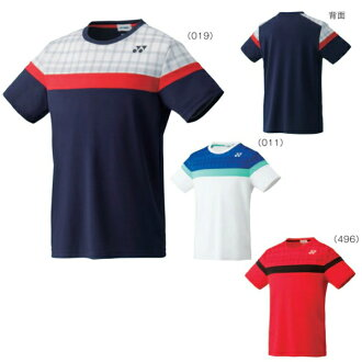 支持秋冬季款yuu分组尤尼克斯UNI衬衫合身风格10164羽毛球网球短袖男女两用男女兼用YONEX 2016年