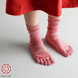【ネコポス送料無料】5本指マーブル編み カラフルソックス 2足 (五本指靴下) 【ネコポス発送につき代引き・配送日時指定不可】