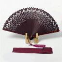 扇子 女性用 婦人向け扇子(バラ 薔薇 あずき色) 竹 扇子 女性用 婦人 レディース 扇子袋付き 木箱入り プレゼント …