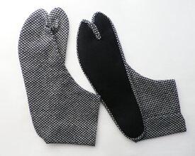 【25.0cm〜】鹿の子(紺) 4枚コハゼ 柄足袋 男性 日本製 手作り 和柄 鹿の子柄