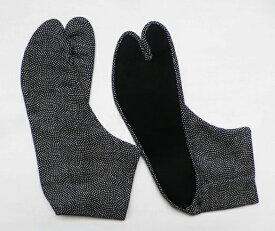 鮫小紋 4枚コハゼ[柄足袋 日本製 行田 手づくり 男 メンズ 25.0cm〜 足袋]