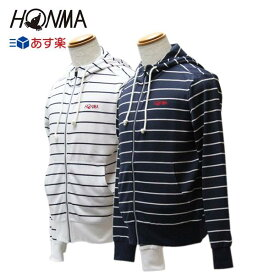 本間ゴルフ ホンマ ゴルフウェア メンズ ボーダーパーカー ホワイト ネイビー 吸汗速乾 春夏モデル 【HONMA】【あす楽対応】