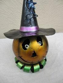 ハロウィン かぼちゃ パンプキン オーナメント ガーデニング ガーデン 置物 雑貨 グッズ【ブリキパンプキン B】