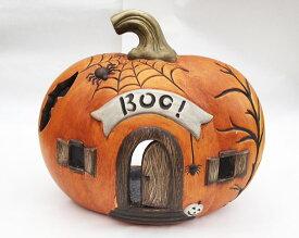 ハロウィン かぼちゃ パンプキン オーナメント ガーデニング ガーデン 置物 雑貨 グッズ【かぼちゃBOO】