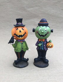 ハロウィン かぼちゃ パンプキン オーナメント ガーデニング ガーデン 置物 雑貨 グッズ【 ハロウィンパーティー(スタンド) 】