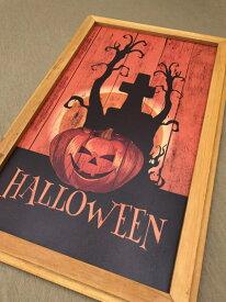 ハロウィン ハロウィンプレート ボード  かぼちゃ パンプキン オーナメント ガーデニング ガーデン 置物 雑貨 グッズ【 ハロウィンボード A  】