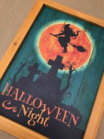 ハロウィン ハロウィンプレート ボード  かぼちゃ パンプキン オーナメント ガーデニング ガーデン 置物 雑貨 グッズ【 ハロウィンボード C  】