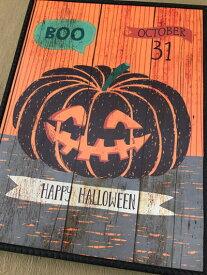 ハロウィン ハロウィンプレート ボード  かぼちゃ パンプキン オーナメント ガーデニング ガーデン 置物 雑貨 グッズ【 ハロウィンボード E  】