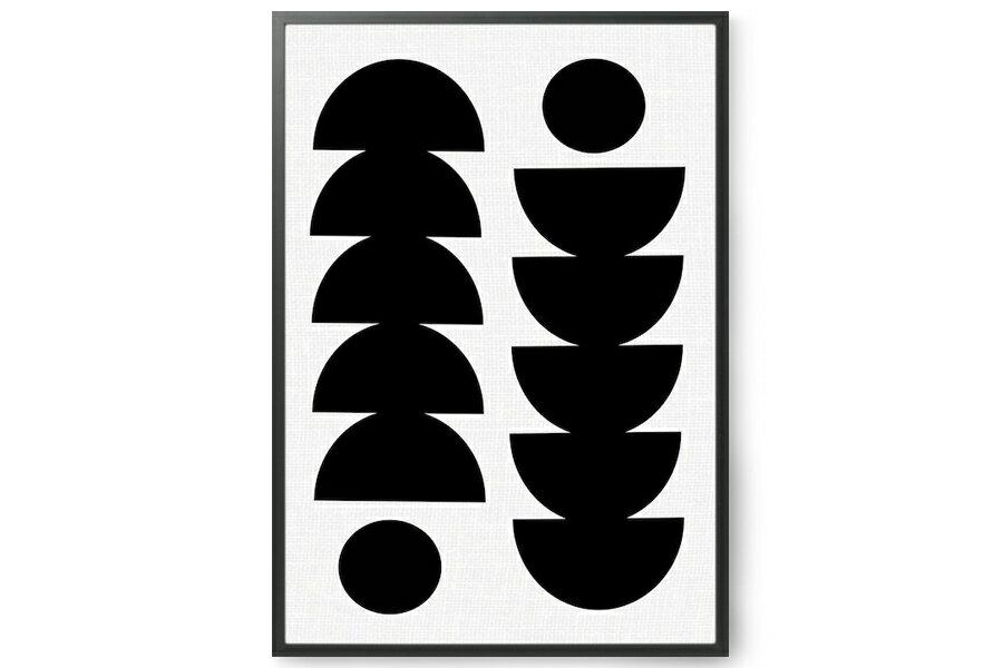 SEVENTY TREEセブンティツリー ポスター/アートプリント 50×70cm Tropical【イギリス イラスト インテリア 北欧雑貨 おしゃれ 壁掛け 絵画 パネル モダン モノクロ モノトーン】