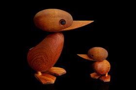 ARCHITECTMADEアーキテクトメイドDucklingSサイズ【北欧雑貨デンマークチーク材木製オブジェアヒル置物ハンスブリング子供】