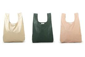 MONK&ANNA PUレザー/ナイロン製 シンプルなショッピングバッグ Monk Bag Limited【北欧雑貨 オランダ ブランド シンプル モダン エコバッグ ショッピングバッグ 折たたみ おしゃれ インテリア モノクロ 可愛い ギフト】