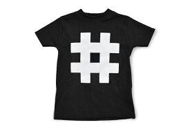 Nor-Folk イギリス製 子供服/キッズ Tシャツ 'Hashtag' ギフトやお祝いにも【モノトーン おしゃれ 親子 お揃い プレゼント】