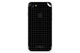 UNIQFINDユニークファインド iPhone6/6S/7 Plus スキンシール/保護シール Grid Line ブラック【iphone6 iphone6S iphone7 Plus スマホケース 携帯ケース スキンシール ステッカー アイフォン 大理石 白 黒 ドット モノクロ アクセサリー ファッション おしゃれ】