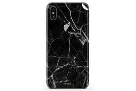 UNIQFINDユニークファインド iPhone X/XS/XS Max/XR Skinスキンシール/保護シール Black Hyper Marble【iphone X/XS/XS Max/XR スマホケース 携帯ケース スキンシール ステッカー アイフォン 大理石 白 黒 ドット モノクロ アクセサリー ファッション おしゃれ】