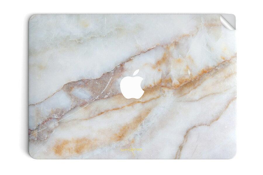 UNIQFINDユニークファインド MacBook Air/Pro 13インチ スキンシール/保護シール Vanilla Marble【ipad Air mini Pro Apple macbook ケース スキンシール ステッカー 大理石 白 黒 ドット モノクロ アクセサリー ファッション】