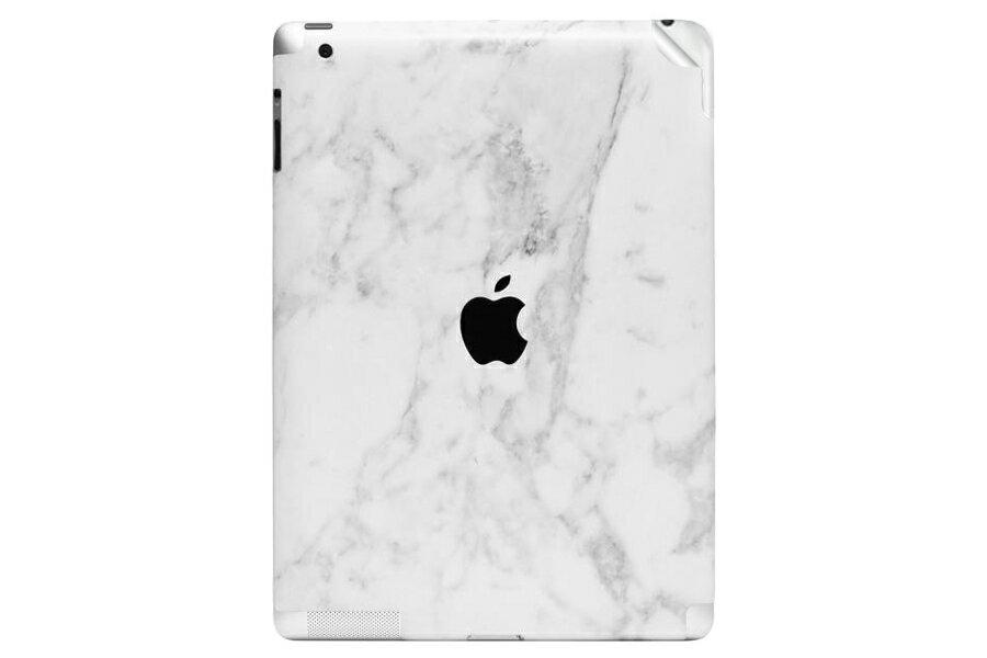 UNIQFINDユニークファインド iPad Air 2 スキンシール Marble ホワイト【ipad Air mini Pro Apple macbook ケース スキンシール ステッカー 大理石 白 黒 ドット モノクロ アクセサリー ファッション】