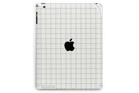 UNIQFINDユニークファインド 【取扱終了】【40%OFF】iPad Air 2 スキンシール Grid Line ホワイト【ipad Air mini Pro Apple macbook ケース スキンシール ステッカー 大理石 白 黒 ドット モノクロ アクセサリー ファッション】